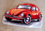 PNV147487 Vervaco Latch Hook Kit Red Beetle Rug