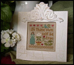 09-1529 PIECE OF CAKE Be True 59 x 59 by Little House Needleworks