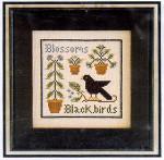 06-1830 Blossoms & Blackbirds by Little House Needleworks