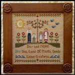 09-1020 In The Beginning 125 x 125 Little House Needleworks