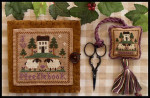 08-1518 Wool Needlebook & Fob by Little House Needleworks