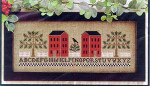 04-1126 Two Red Houses by Little House Needleworks