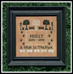 09-2082 Walk In The Park, A 85 x 80 by Little House Needleworks YT