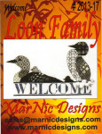 13-2281 Loon Family Welcome Size: 122w x 63h MarNic Designs