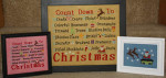 Count Down To Christmas Large frame: 158h x 191w, Small frame: 158h x 191, Companion piece: 40h x 80w Needle Bling Designs YT