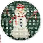 "LM-XO 02 Melting Snowman 18 Mesh 4"" Rnd. Laura Megroz"