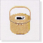 "MBM-CO 34 Nantucket Basket with Whale 18 Mesh  4"""" Melinda B. McAra"