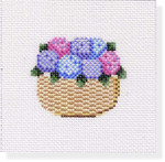 "MBM-CO 31 Coaster Nantucket Basket with Hydrangea 18 Mesh  4"""" Melinda B. McAra"