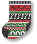 "MBM-SX13 Mini-Stocking Dog Things 18 Mesh 4"" x 6.5""  Melinda B. McAra"