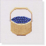 "MBM-CO 33 Coaster Nantucket Basket with Berries 18 Mesh  4"" "" Melinda B. McAra"