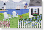 "MBM-PL6 Cottage by the Sea 18 Mesh 14"" x 10"" Melinda B. McAra"