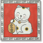 "MBM-PL29 Lucky Cat with Charm 13 Mesh 8.5"" Melinda B. McAra"