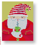 Michele Noiset MN-XO 03 Santa with Mug 18 Mesh 4.25 x 5.25""