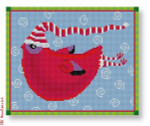 Michele Noiset MN-PL 03 Red Bird with Scarf 13 Mesh 8.25 x 6.75""