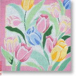 "R-P1008 Tulips 13 Mesh 12"" Needlepoint Boutique Designs"