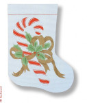 "R-C1005 Candy Cane 13 Mesh 15"" Needlepoint Boutique Designs"