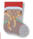 R-C1006 Teddy Bear 13 Mesh 17.5 Needlepoint Boutique Designs