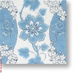 "R-P1027 Blue & White Floral 13 Mesh 12"" Needlepoint Boutique Designs"
