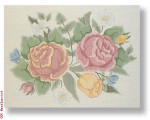 "R-P1001 Old Roses 13 Mesh 12 x 16""""Needlepoint Boutique Designs"