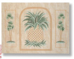 "R-P1003 Pineapple/Palm Trees 18 Mesh 16x12"" Needlepoint Boutique Designs"
