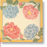 "R-P1022 Hydrangeas & Roses 13 Mesh 13"" Needlepoint Boutique Designs"