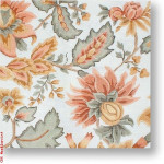 "R-P1028 Peach & Gold Floral 13 Mesh 12"" Needlepoint Boutique Designs"