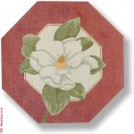 "R-P1018 Magnolia Octagon 13 Mesh 11"" Oct. Needlepoint Boutique Designs"