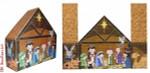 "CBK Designs Starke Art Designs SA-DS 05 Door Stop Nativity 13 Mesh 14.5 x 11.25"""