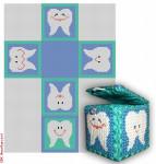 "CBK Designs Starke Art Designs SA-BX 02 Tooth Fairy Box - Blue 18 Mesh 2"" Box"