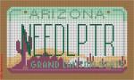 """CBK Designs Starke Art Designs SA-ML 06 Arizona Mini-License Plate 18 Mesh 5.5 x 3.25"""""""