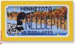 "CBK Designs Starke Art Designs SA-ML 21 Minnesota Mini-License Plate 18 Mesh 5.5 x 3.25"""