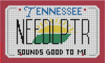 "CBK Designs Starke Art Designs SA-ML 13 Tennessee Mini-License Plate 18 Mesh 5.5 x 3.25"""