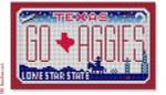 """CBK Designs Starke Art Designs SA-ML 34 GO AGGIES - Texas 18 Mesh 5.5 x 3.25"""""""