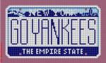 """CBK Designs Starke Art Designs SA-ML 08 NY - Go Yankees Mini-License 18 Mesh 5.5 x 3.25"""""""