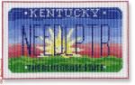 "CBK Designs Starke Art Designs SA-ML 19 Kentucky Mini-License Plate 18 Mesh 5.5 x 3.25"""