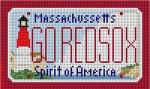 "CBK Designs Starke Art Designs SA-ML 09 MA - Go Red Sox Mini-License 18 Mesh 5.5 x 3.25"""