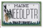 "CBK Designs Starke Art Designs SA-ML 25 Maine Mini-License Plate 18 Mesh 5.5 x 3.25"""