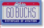 """CBK Designs Starke Art Designs SA-ML 36 GO BUCKS - Ohio 18 Mesh 5.5 x 3.25"""""""