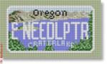 "CBK Designs Starke Art Designs SA-ML 26 Oregon Mini-License Plate 18 Mesh 5.5 x 3.25"""