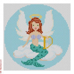"CBK Designs Starke Art Designs SA-XO 21 Mermaid Angel 18 Mesh 4.75"" Rnd."