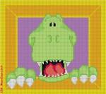 "CBK Designs Starke Art Designs SA-PL 18 Green Monster 13 Mesh 8 x 8"""