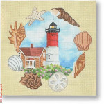 "CBK Designs Starke Art Designs SA-PL 29 Nauset Lighthouse - MA 13 Mesh 10"""
