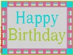 "CBK Designs Starke Art Designs SA-SS 01 Happy Birthday 18 Mesh 5.75 x 4.5"""