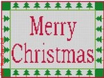 "CBK Designs Starke Art Designs SA-SS 02 Merry Christmas  18 Mesh 5.75 x 4.5"""