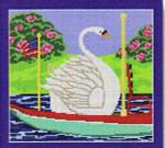 "CBK Designs Starke Art Designs SA-PL 16A Swan Boat 18 Mesh 7.5 x 7"""