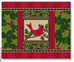 "CBK Designs Starke Art Designs SA-PL 27 Holiday Cardinal 13 Mesh 10.25 x 8.5"""