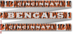 "106 Cincinnati Bengals Belt 18 Mesh 35 x 1.25"" CBK Designs Keep Your Pants On"