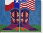 """JJM-PL 14 Patriotic Cowgirl 18 Mesh 10x13"""" Janis J. Mattox"""