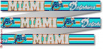 "125 Miami Dolphins Belt 18 Mesh 35 x 1.25"" CBK Designs Keep Your Pants On"