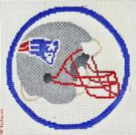 "501 Patriots Helmet - Football 18 Mesh 4"" Rnd. CBK Designs Keep Your Pants On"